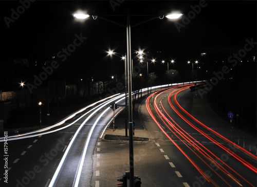 Foto op Aluminium Nacht snelweg Ansbach