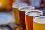 closeup of a beer fl...