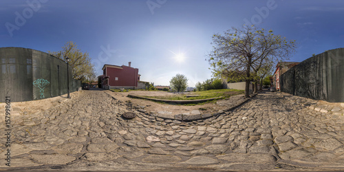 360 degrees panorama of old town  in Plovdiv, Bulgaria Poster