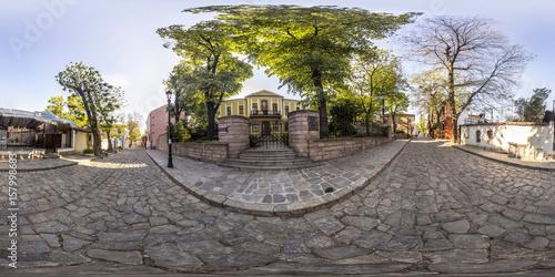 360 degrees panorama of the House-Museum Zlatyu Boyadzhiev in Plovdiv, Bulgaria Poster