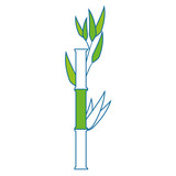 bamboo plant icon over white background. vector illustration