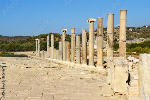Main street in ancient Lycian city Patara. Turkey