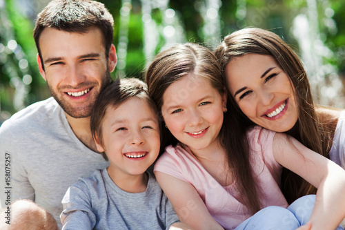 Portrait of young family