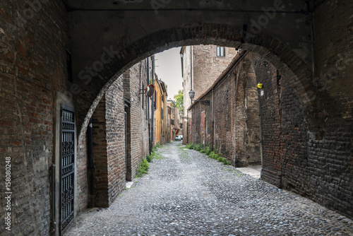 Views of the via delle-volte, a medieval street in the center of the village