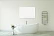 Modern bathroom. 3d rendering.