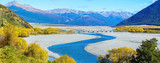 Panoramic image of beautiful scenery of Arthur's pass National Park in Autumn , South Island of New Zealand - 158096047