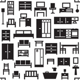 Vector furniture seamless pattern background 4 - 158101434