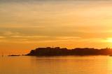 Sunset in small coastal town Stobrec near Split, Croatia.  - 158203282