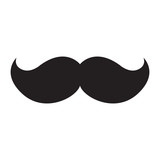 Fototapety Isolated icon of a mustache, Vector illustration