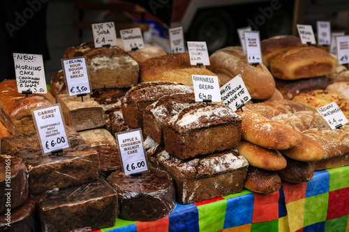Breads and Pies For Sale at the Temple Bar Food Marketin Dublin