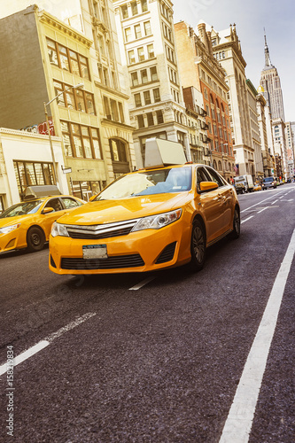 Deurstickers New York TAXI Yellow Cab New York