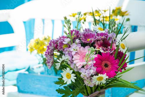 Fotobehang Gerbera Farbenfrohe Blumen