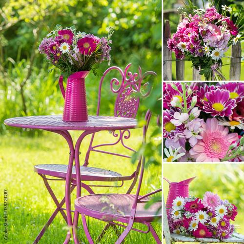 Farbenfrohe Gartenzeit - Collage