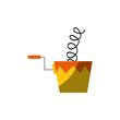 joke box icon over white background colorful design vector illustration