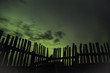 Northern Lights along a Fence