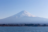 Fuji mountain and kawaguchiko lake in the afternoon