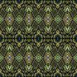 Materiał do szycia Seamless ethnic pattern. Bright pattern on a dark background.