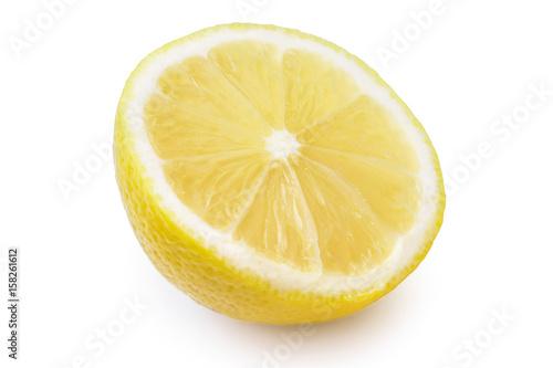 lemon fruit half isolated