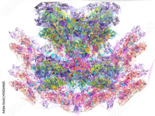 Geometric low polygonal background. Raster clip art © LaFifa
