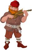 Dwarf Playing Violin