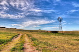 Fototapety Texas water well and windmill