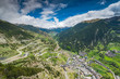 Drone view over village in Andorra