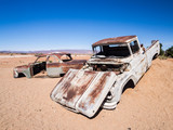 Old car wreck left in Solitaire on the Namib Desert, Namibia.