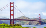 Golden Gate Bridge San Francisco - view from Battery East Park - SAN FRANCISCO - CALIFORNIA - APRIL 18, 2017