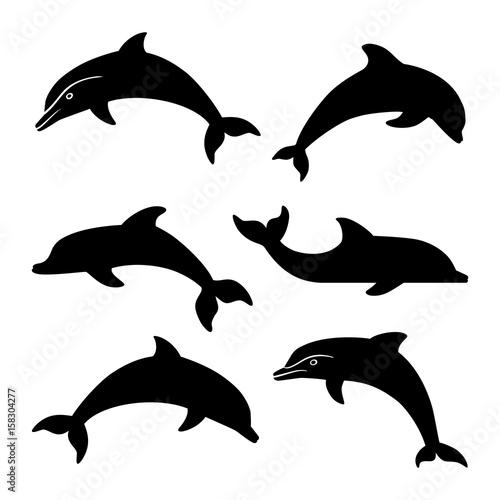 dolphin silhouettes set buy photos ap images detailview