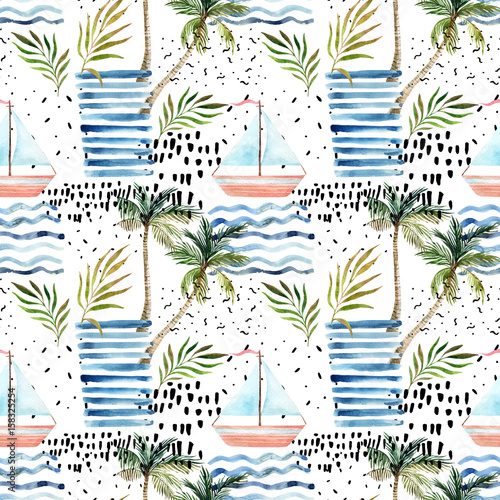 Abstract summer seamless pattern. - 158325254