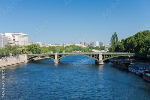 Poster Paris, quai de Bethune and the pont de Sully, bridge on the Seine