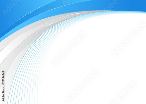 Niebieski i srebrny streszczenie fala granicy szablon certyfikatu. Swoosh elegancki półtonów futurystyczny graficzny nowoczesny łuk z rozbłyskami światła