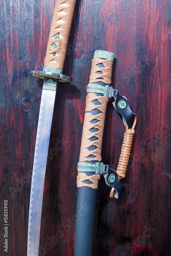 Katana samurai sword Poster