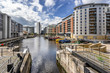 Leeds Dock formerly Clarence Dock in central Leeds west Yorkshire