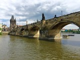 View of Prague and Charles Bridge, Czech Republic