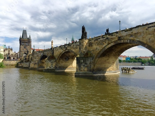 Poster View of Prague and Charles Bridge, Czech Republic