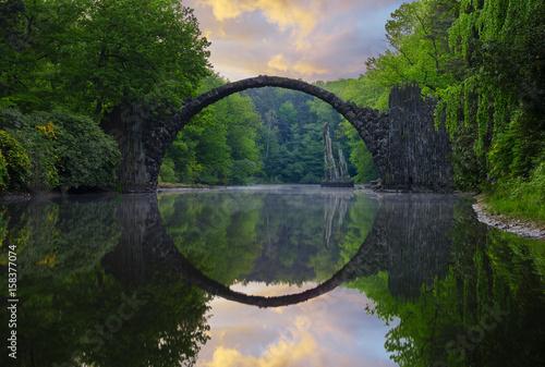 Fototapeta Devil's Bridge in Kromlau in saxony