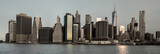 New York skyline with color wash look