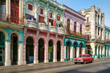 Fototapety Urban scene in a colorful street in Old Havana
