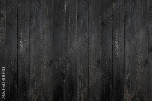 black wooden plank texture background. - 158384032