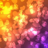 Abstract heart background. Magic light illustration background with sweet heart design. - 158390463
