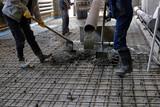 pouring concrete slab - 158402490