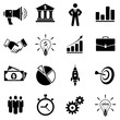 Vector set web icons - business ( advertising , banking , manager , graph , agreed , incrase arrow , job , money ,  statistics , startup , target , team work , time , work , idea )