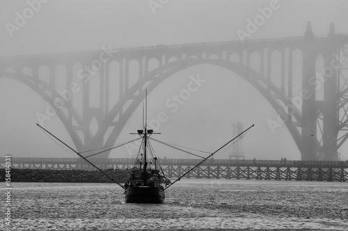 Foggy Bridge - 158414831