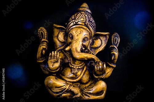 Ganesh Aura on Black Background