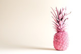 Pink painted pineapple on a white background - 158422684