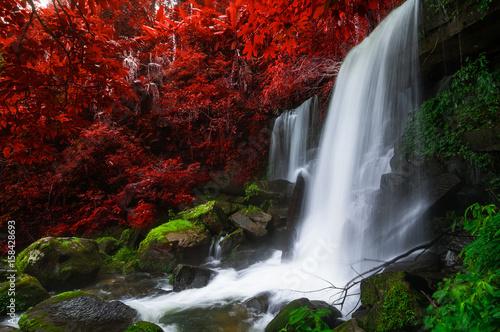 Keuken foto achterwand Rood paars Romklao Paradon Waterfall.