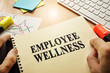 Quadro Hands holding documents with title Employee Wellness.