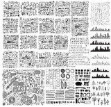 MEGA set of doodles of Party, Leave ,Healthcare, School, Contact, Shopping, Wedding, Travel, Idea, Business, Finance, Ecology, Media, Internet, Weather, Meeting, Human, Music, arrow eps10