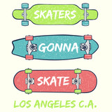 cool skateboards illustration with slogan graphic